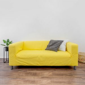 Wingback Yellow Couch